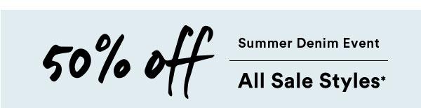 50% Off Summer Denim Event | Sale | Lucky Brand